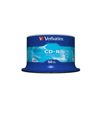 VERBATIM CD-R 52X 700MB EPROT 50 SPINDEL