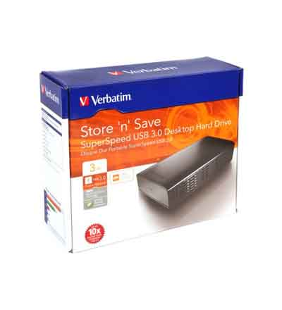 VERBATIM 3.5 3TB USB 3.0 SUPERSPEED HARD DRIVE