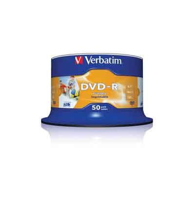 VERBATIM DVD-R PRINTABLE 16X 50 SPINDEL