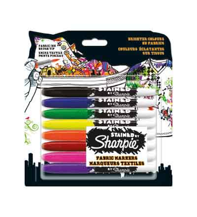 SHARPIE STAINED LAUNDRY MARKERS MARKERS (SET OF 8)