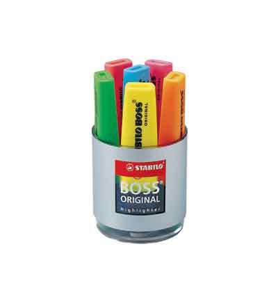 HIGHLIGHTERS STABILO BOSS (TUB OF 6)