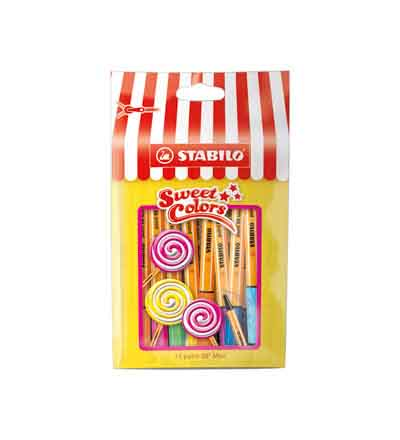 STABILO SWEET COLORS MINI POINT 88 POUCH OF 15