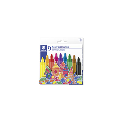 STAEDTLER NORIS CLUB WAX CRAYONS SUPER JUMBO (SET OF 9)