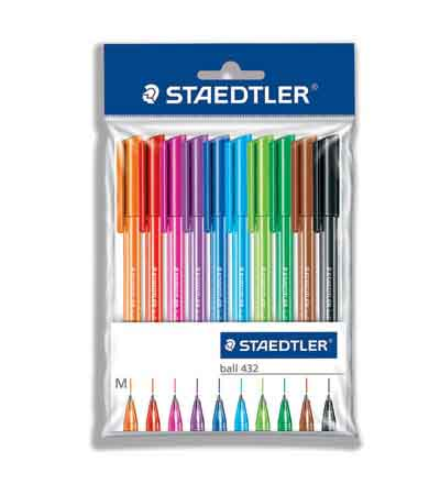 STAEDLTER BALLPOINT PENS  (SET OF 10)