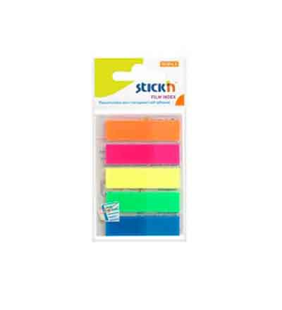 STICK 'N NOTE INDEX NEON COLOURS (SET OF 5)