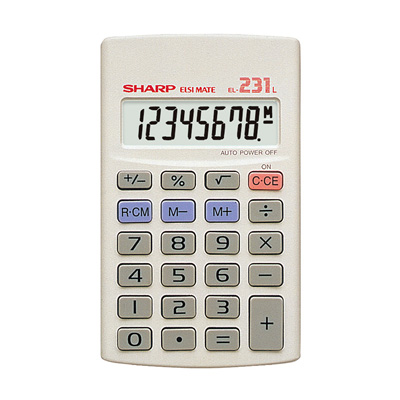 SHARP EL231 CALCULATOR