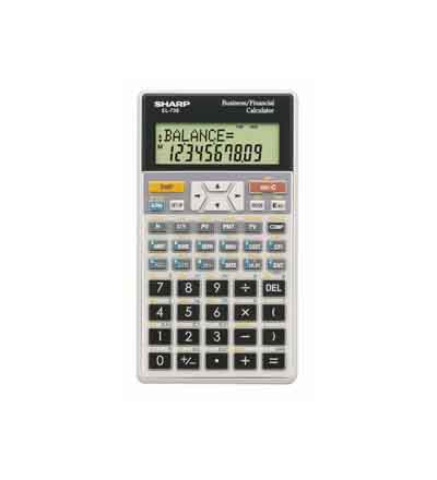 CALCULATOR SHARP EL738 FINANCIAL