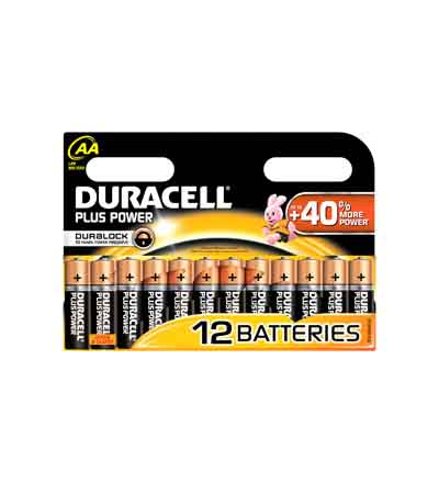 DURACELL PLUS POWER AA 12'S