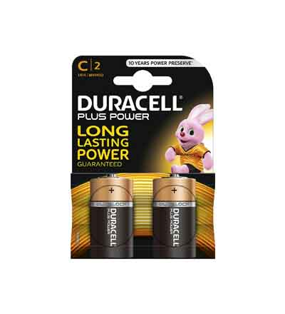 DURACELL PLUS POWER C 2'S