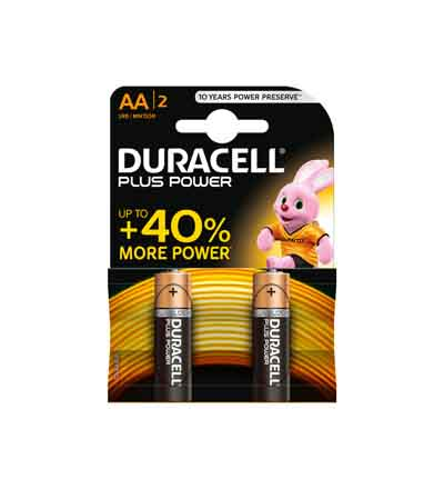 DURACELL PLUS POWER AA 2'S