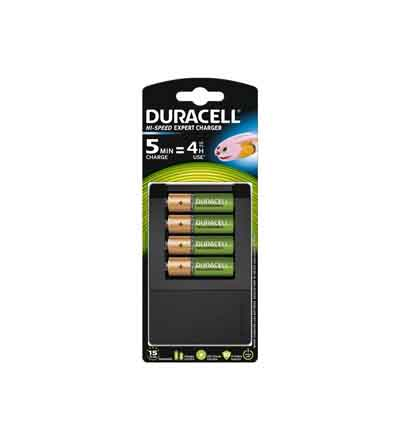 DURACELL CHARGER 15MIN AA 4'S