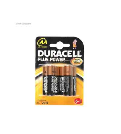 DURACELL PLUS POWER AA 6'S