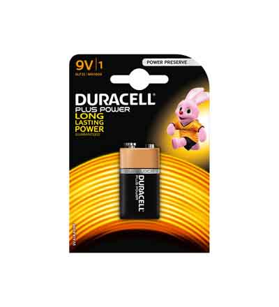 DURACELL PLUS POWER 9V 1'S