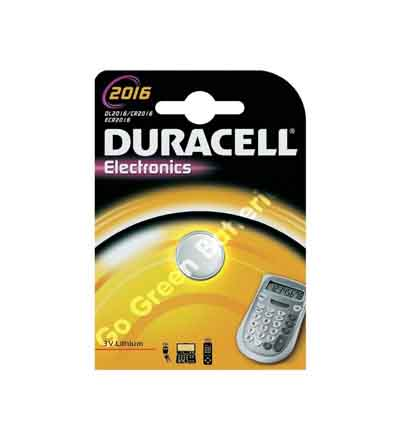 DURACELL LITHIUM COIN'S 2016 3V 2'S