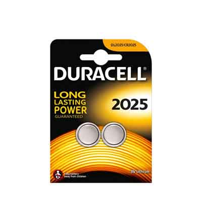 DURACELL LITHIUM COIN'S 2025 3V 2'S