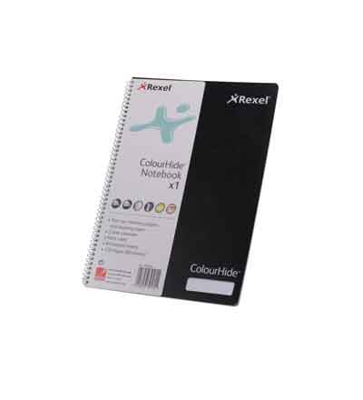 REXEL A4 COLOURHIDE NOTEBOOKS