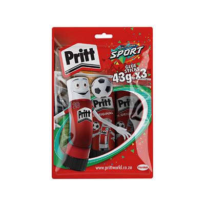 PRITT GLUE STICK 3 PACK 43G - VALUE PACK