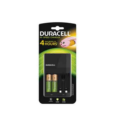 DURACELL CHARGER 4HR AA 2'S