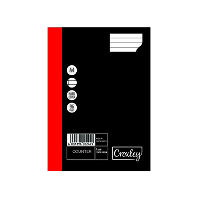 CROXLEY COUNTER BK 1 QUIRE 96P FM CROXLEY