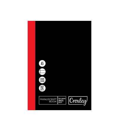 CROXLEY A5 MANUSCRIPT BOOK F&M 192 PG