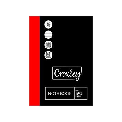 CROXLEY A6 JD356 NOTEBOOK 148X105MM 144 PG