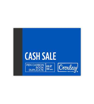 CROXLEY A6L DUPLICATE CASH SALE CARBON BOOK