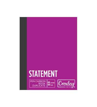 CROXLEY A5 DUPLICATE STATEMENT CARBON BOOK