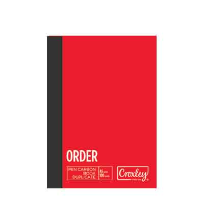CROXLEY A5 DUPLICATE ORDER CARBON BOOK