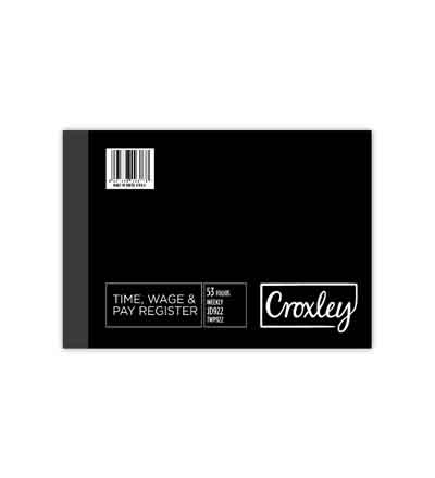 CROXLEY TIME, WAGE AND PAY REGISTERS JD922 WEEKLY 206 X 305MM 53 FOLIOS