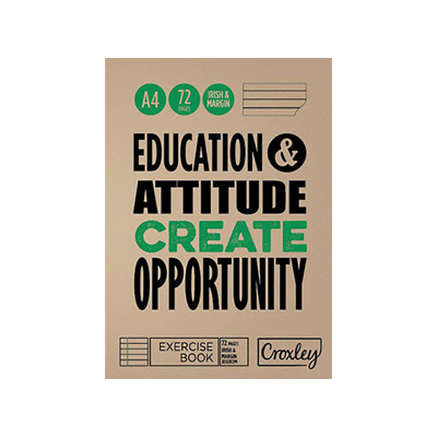 CROXLEY EXERCISE BOOK A4 I&M 72PG