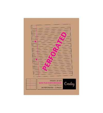 CROXLEY A4 F&M PUNCHED & PERFORATED NOTEBOOK 72 PG
