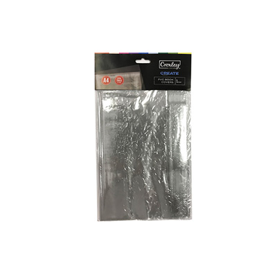 CROXLEY BOOK COVER A4 PVC 140 MIC (PACK OF 5)