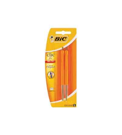 BIC CLIC FINE/MEDIUM BALLPOINT PENS