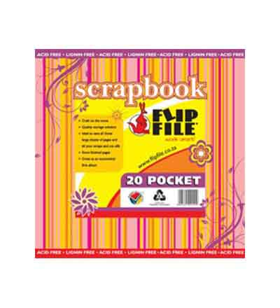 FLIP FILE 20 POCKET SCRAPBOOK FILE