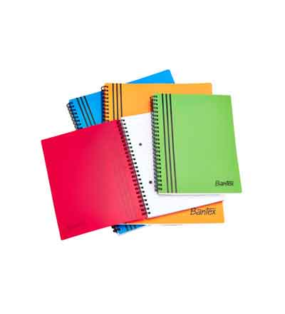 BANTEX A4 POLYPROPYLENE NOTEBOOKS