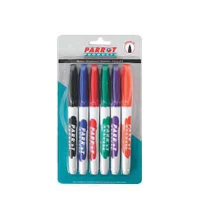 MARKER WHITEBOARD SLIMLINE PARROT (SET OF 6)