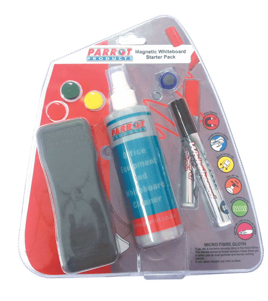 WHITEBOARD STATER PACKS PARROT MAGNETIC