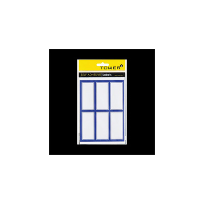 BLUE BORDER LABELS TOWER (PACK OF 24)
