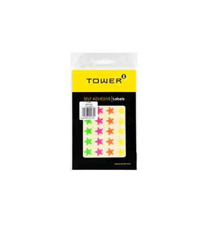 TOWER MIXED PACK OF FLUORESCENT STARS