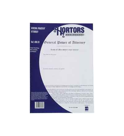 HORTORS GENERAL POWER OF ATTORNEY DOCUMENTS