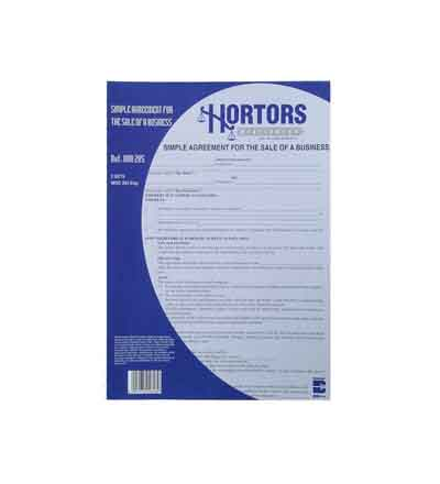 HORTORS PRE-PACKED AGREEMENT FOR SALE OF BUSINESS DOCUMENTS