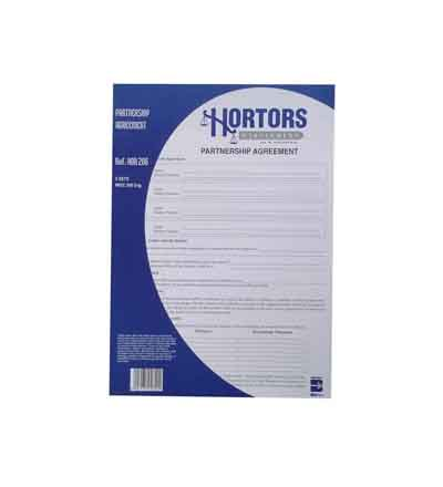 HORTORS PRE-PACKED PARTNERSHIP AGREEMENT FORMS DOCUMENTS