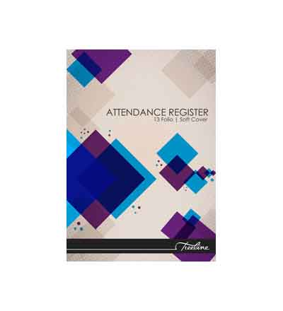 TREELINE ATTENDANCE REGISTER A4 SOFT COVER