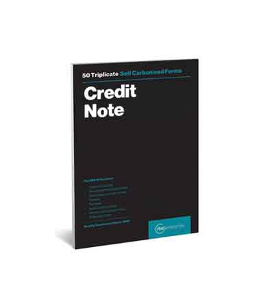 RBE TRIPLICATE CREDIT NOTE PAD 50 SHEETS