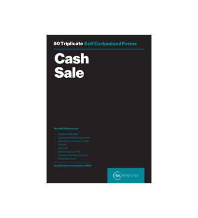 RBE TRIPLICATE CASH SALE PAD 50 SHEETS A5