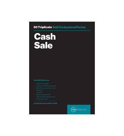 RBE TRIPLICATE CASH SALE PAD 50 SHEETS A5