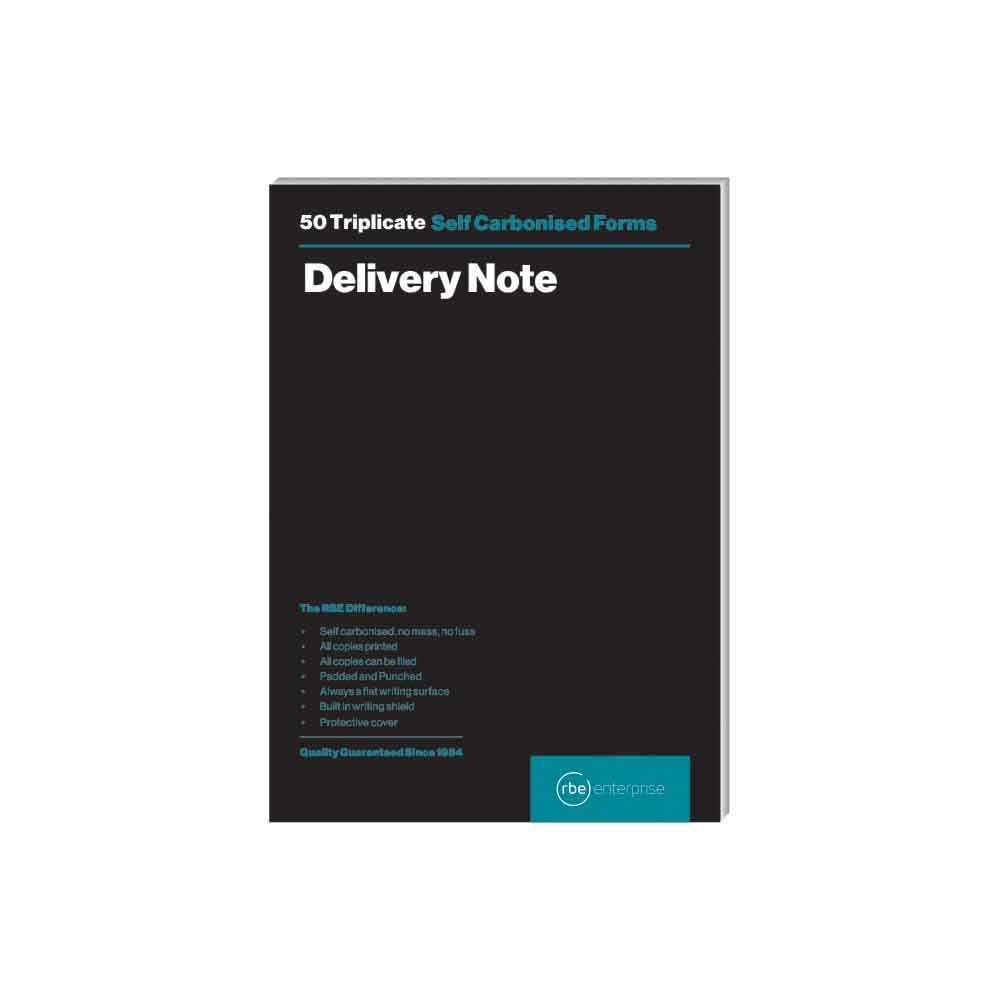 RBE TRIPLICATE DELIVERY NOTE PAD 50 SHEETS