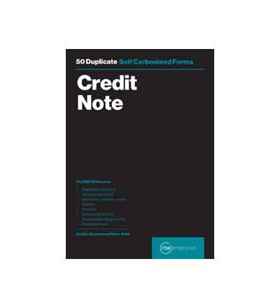 RBE A5 DUPLICATE CREDIT NOTE PAD 50 SETS