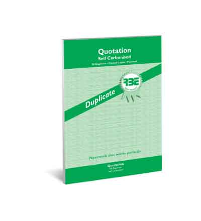 RBE A4 DUPLICATE QUOTATION PAD 50 SETS