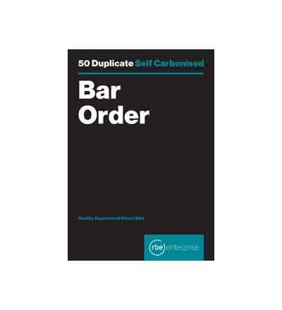 RBE BAR ORDER DUPLICATE PAD 50 SETS
